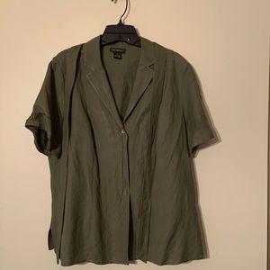 Lane Bryant Linen/Rayon Shirt.
